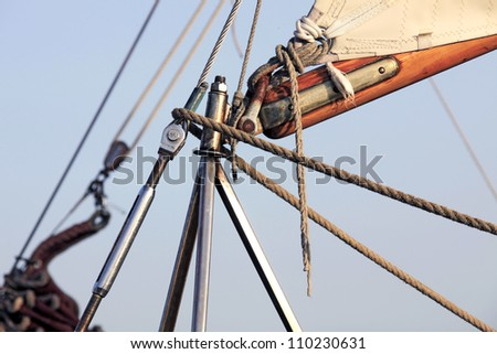 Details caravels, ships - stock photo