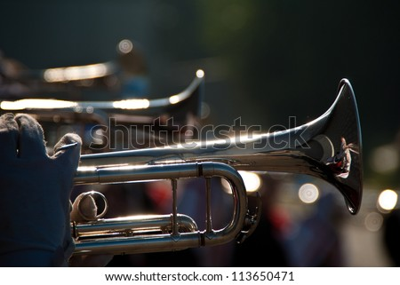 Details form a Show and Marchingband, Uniforms and Instruments.