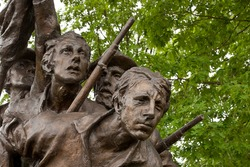 Details from the North Carolina memorial statue at Gettysburg