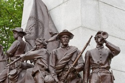 Details from the Virginia memorial statue at the Gettysburg battlefield