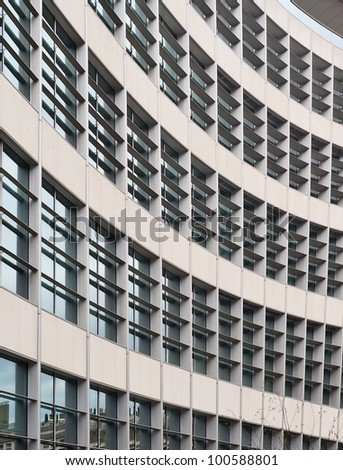 details of a building with shape and color