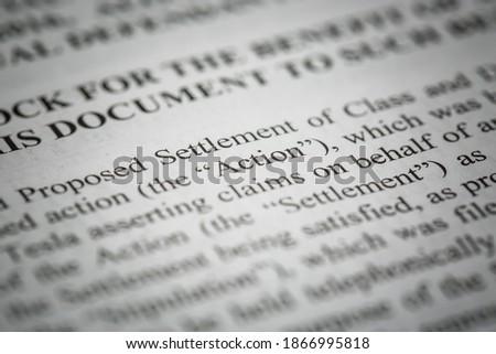 Details of a legal document for a class action lawsuit.