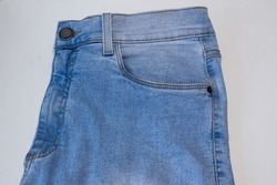 Details of a pair of jeans.