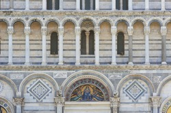 Details of Baptistery of St. John in the Piazza dei Miracoli,Pis