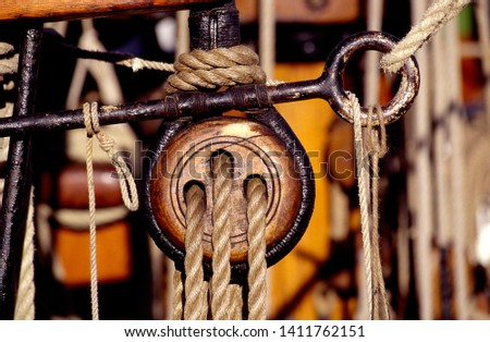 Details of beautiful old tall ships. Tall ship's race. #1411762151
