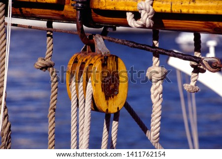 Details of beautiful old tall ships. Tall ship's race. #1411762154