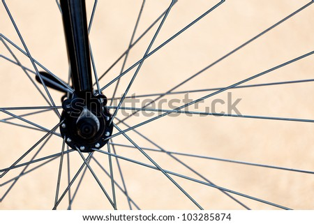 Details of bicycle wheel