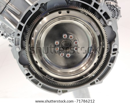 Details of car engine section - stock photo