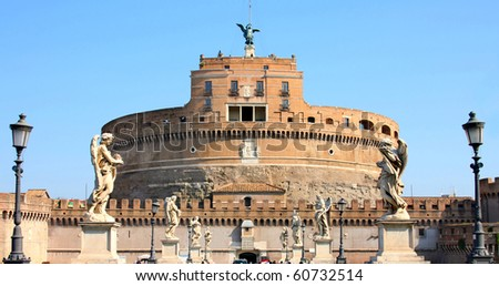 details of Castel Sant' Angelo in Rome, Italy #60732514