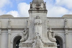 Details of Columbus Fountain Sculpture in Union Station, Washington DC - United States