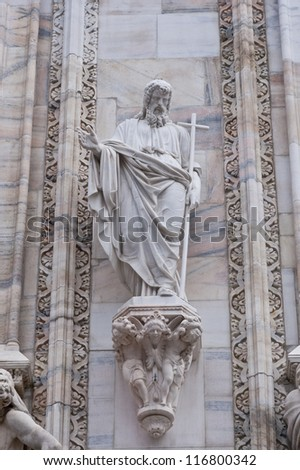 Details of Duomo Cathedral in Milan, Italy