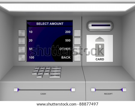 Details of gray ATM machine