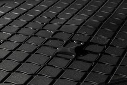 Details of high quality winter car mats with water drops