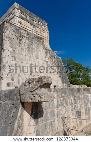 Details of Mayan Ruins in archaeological site of  Chichen Itza, Yucatan, Mexico