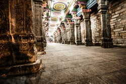 Details of Meenakshi Temple - one of the biggest and oldest temple in Madurai, India.