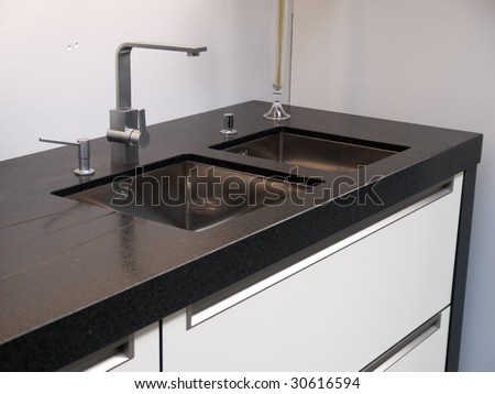 Details Of Modern Design Trendy Kitchen Sink With Water Tap Faucet ...