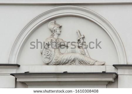Details of one of the buildings in Warsaw. Staroswiecki Sklep.  Zdjęcia stock ©
