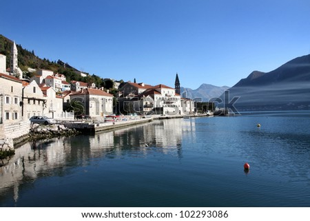 Details of Perast village near Kotor, Montenegro