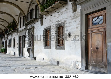 Renaissance Architecture on Stock Photo   Details Of Renaissance Architecture In Florence  Italy