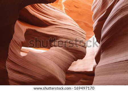 Details of textures in Lower Antelope Canyon, Page, Arizona, USA
