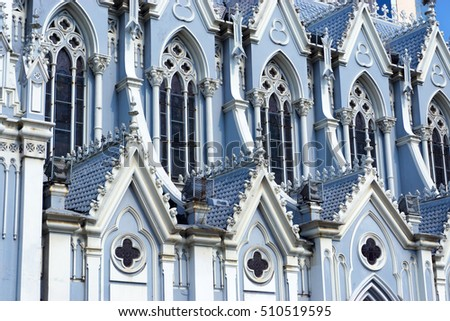 Details of the church known as La Ermita in Cali, Colombia