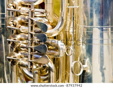 Details of the keys of a wind musical instrument