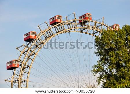 "details of vienna's giant ferris wheel, the ""riesenrad"""