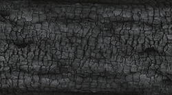 Details on the surface of charcoal.