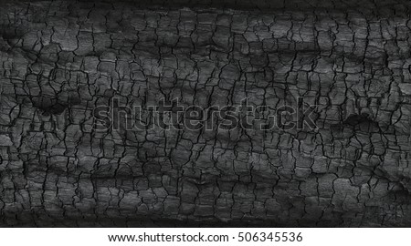 Details on the surface of charcoal. stock photo