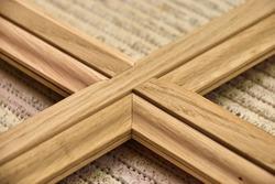 Details wood production. Classic door