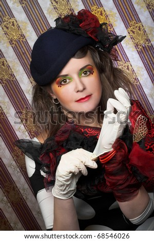 Detective. Charming lady in creative image.