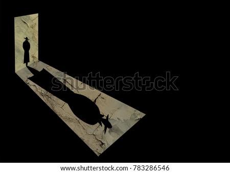 Detective in door