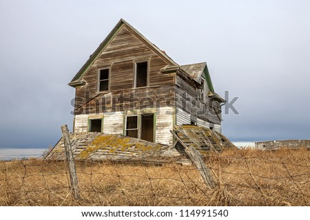 deteriorated abandoned haunted old house