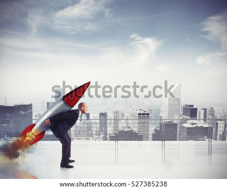 Determination and power businessman #527385238