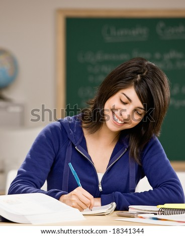 doing homework in class