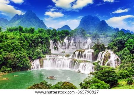 Detian waterfall #365790827