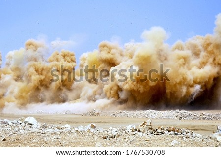Detonator blasting on the mining site in the  Foto d'archivio ©
