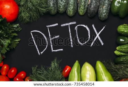 Detox , Assortment of fresh vegetables #735458014