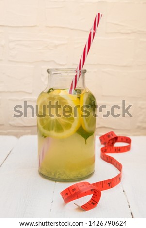 Water with lemon, ginger, cucumber, mint Images and Stock Photos