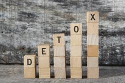 DETOX word on building block