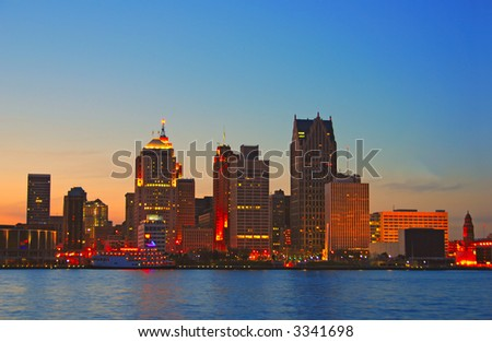 Detroit by sunset