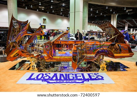 the los angeles car club displays a unique car at the autorama show