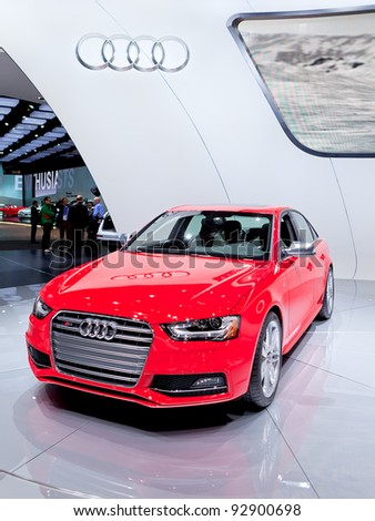 DETROIT - JANUARY 11: The 2012 Audi S4 world premiere at the 2012 North American International Auto Show Industry Preview on January 11, 2012 in Detroit, Michigan.
