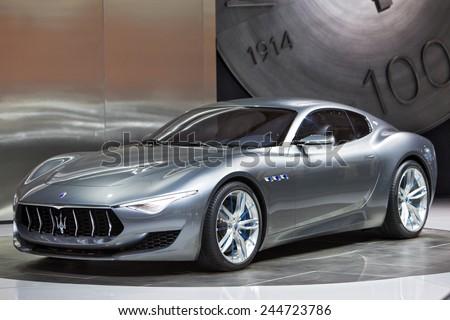 DETROIT JANUARY 15 The Maserati Alfieri concept January 13th 2015 at the 2015 North American International Auto Show in Detroit Michigan