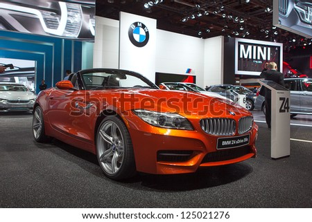 DETROIT - JANUARY 15 : The new BMW Z4 at The North American International Auto Show  January 15, 2013 in Detroit, Michigan.