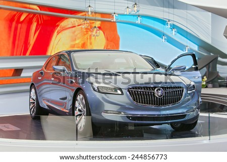 Detroit January 15 The New Buick Avenir Concept On Display