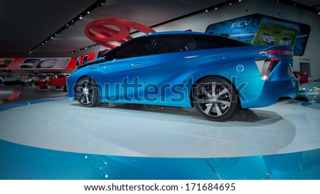 DETROIT, MI/USA - JANUARY 14: A Toyota FCV Concept car at the North American International Auto Show (NAIAS) on January 14, 2014, in Detroit, Michigan.
