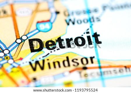 Detroit Michigan Map Usa on