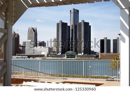 Detroit Skyline Framed