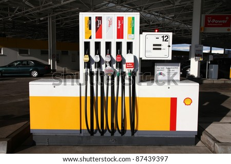 DEUBACHSHOF, GERMANY - SEPTEMBER 4: Shell gas station on September 4, 2010 in Deubachshof, Germany. According to Forbes, Royal Dutch Shell oil company is the 5th largest corporation worldwide.